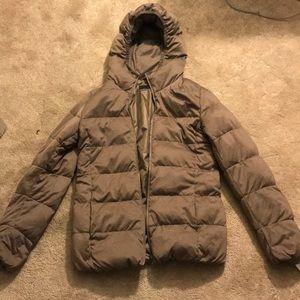 Uniqlo Brown Tan Down Puffer Jacket